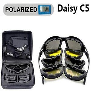 e12e87f5fb Daisy C5 X7 Polarized Military Army Goggles Men Tactical Game 4 Lens ...