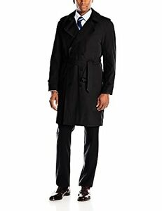 Stacy Adams Mens Rain Double-Breasted Full-Length Trench Coat