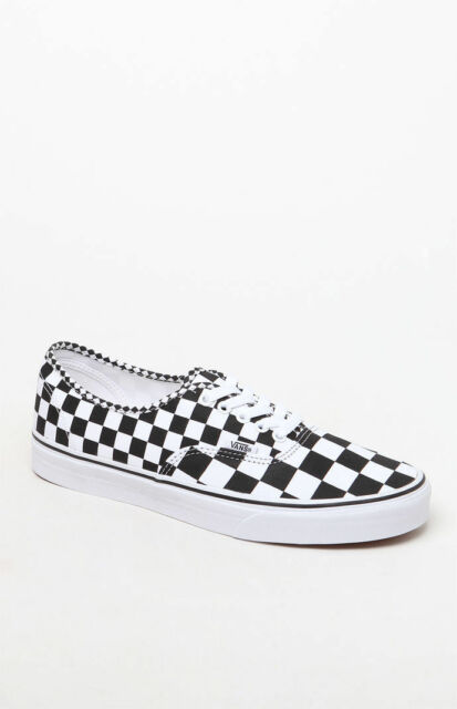 d89d24801f6968 MENS GUYS VANS AUTHENTIC BLACK WHITE CHECKER BOARD SHOES SB SNEAKERS NEW  65