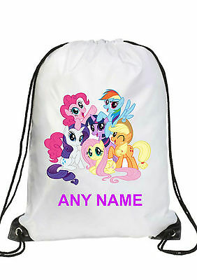PERSONALISED GIRL PONY ALL THE PONIES Gym BAG Swimming PE Dance School GIFT