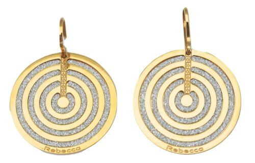 Rebecca Infinity Circle Earrings in Rose Gold Plated Bronze