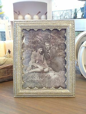 CLAYRE & EEF Fotorahmen BILDERRAHMEN ANTIK-STIL silber 15x20cm B-Ware Shabby