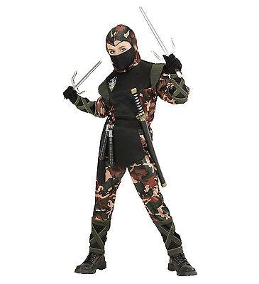 NINJA Soldato Costume Ragazzi combattimento giapponese Oriental