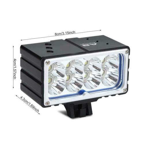 9600 Lumens MTB Road Bicycle Front Light Bike Headlight LED Lamp Rechargeable