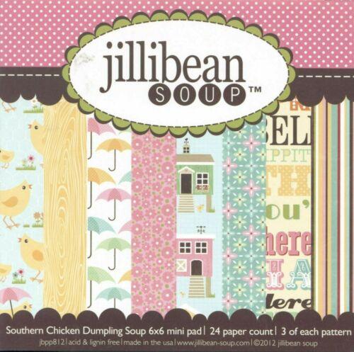 Jillibean Soup 6 x 6 Paper Pads PICK Blossom Lime Bean Bisque Dumpling Sweet