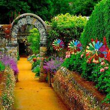 Bright 72cm Tall Rainbow Holographic Flower Windmill Spinner Garden Ornament