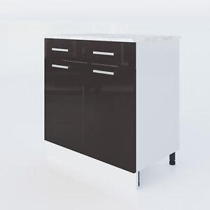 Küchen unterschrank schwarz  KÜCHENSCHRANK 3008 SCHWARZ LACK KÜCHENMÖBEL KÜCHEN UNTERSCHRANK ...