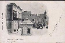 Sansevero, Foggia, Piazza castello, viaggiata.