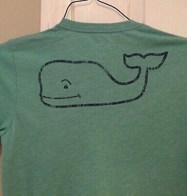 NWT Boy/'s LS Vineyard Vines Charleston Green Football Whale Pocket T-Shirt L XL