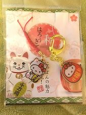 2 New Sanrio Hello Kitty Cell Phone Cat Charm and Lantern Keychain from Japan