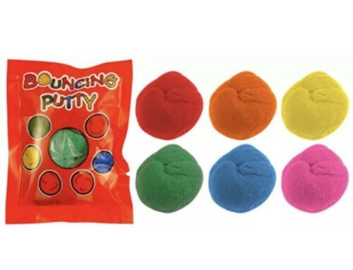 6x Bouncing Putty Bags Pinata Toy Loot//Party Bag Fillers Wedding//Kids UK SLR