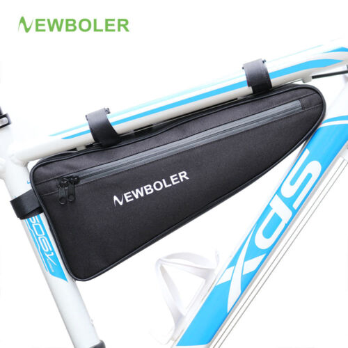 NEWBOLER Bicycle Triangle Bag Bike Frame Front Tube Bag Waterproof Cycling Bag