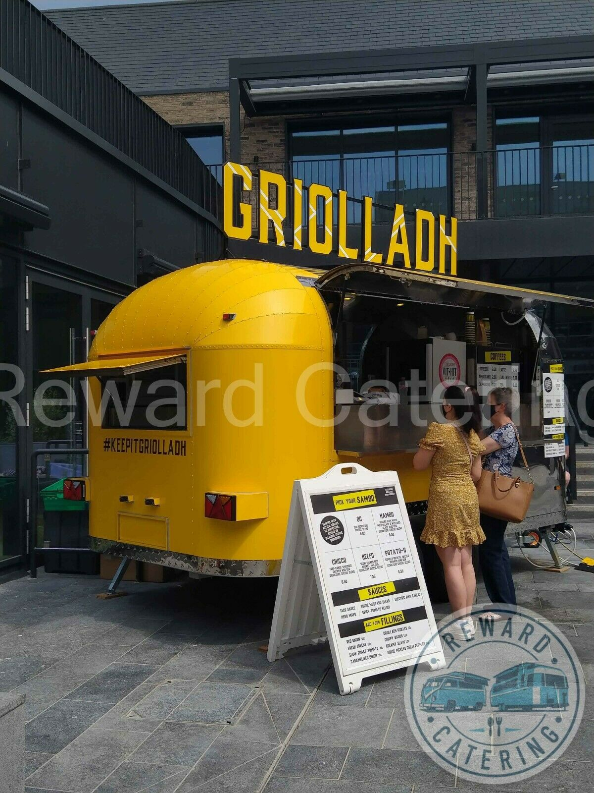 2021 Airstream Food Truck Burger, Coffee Gin Prosecco Pizzas