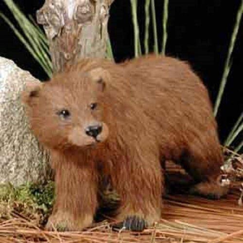 Bear Grizzly Fur Figurine