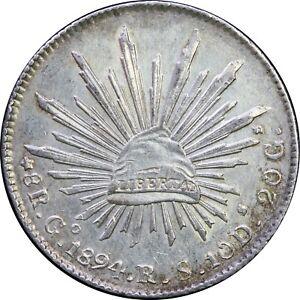 Mexico-8-Reales-Go-1894-R-S-Guanajuato-KM-377-8-SKU3
