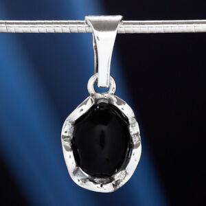 Onyx-Silber-925-Anhaenger-Sterlingsilber-Damen-Schmuck-A0543
