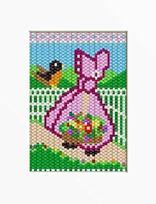 SPRING CHICKADEES BEADED BANNER PDF PATTERN ONLY