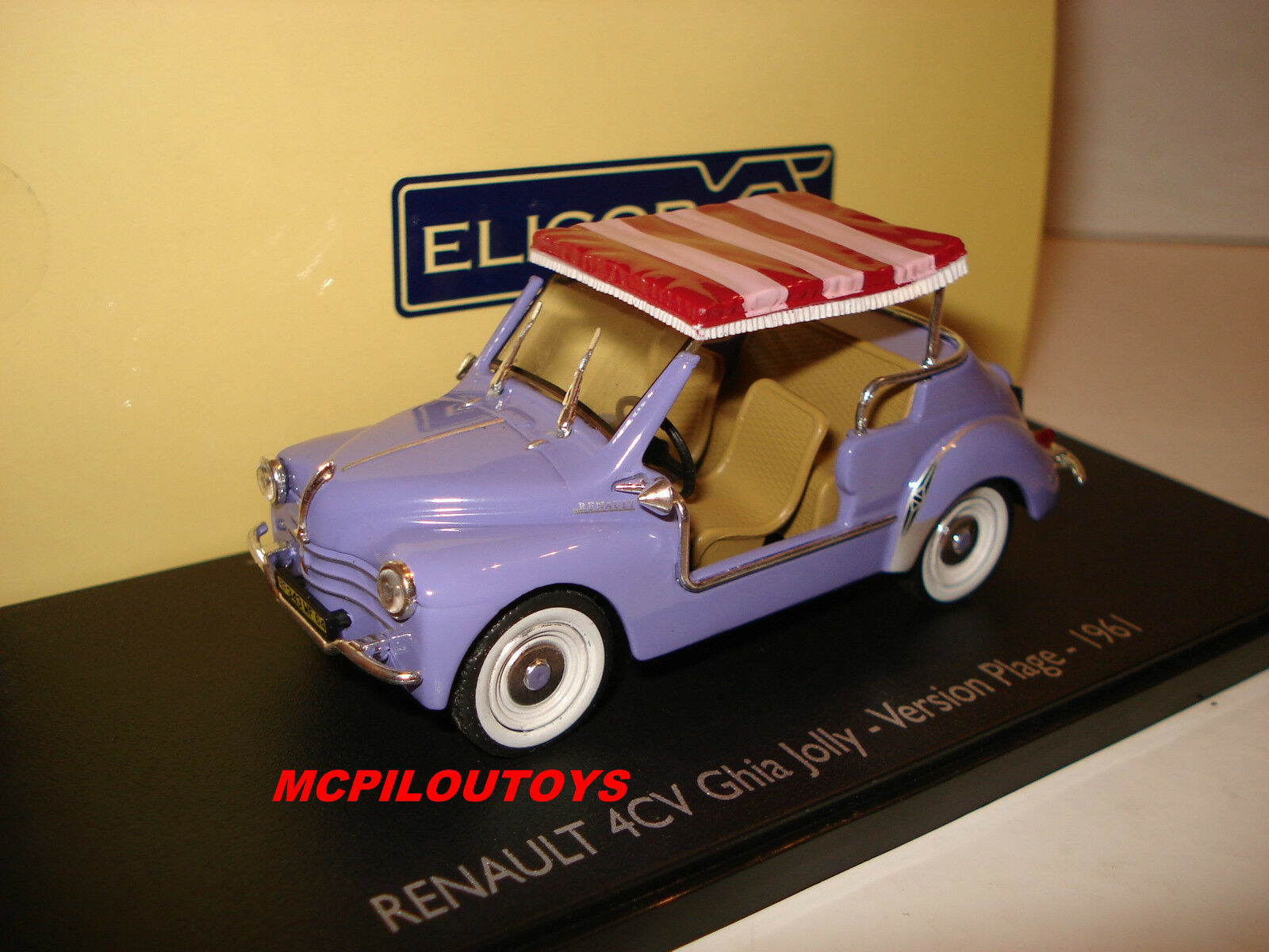 Eligor renault 4CV Ghia Ghia Ghia JOLLY Version Strand 1961 au 1 43° 317203