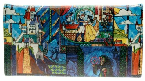 Beauty And The Beast Themed Hand Purse Trifold Clutch Wallet
