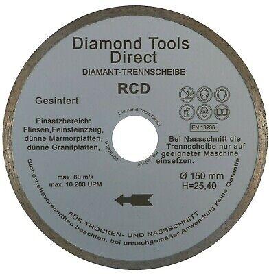 Diamant Trennscheibe /Ø 150 mm f/ür Fliesen Keramik Diamantscheibe Trennscheibe