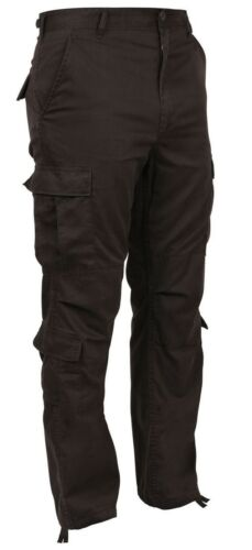 Mens Brown Cargo Pants Military Style Paratrooper Cargo Fatigues Rothco 2562