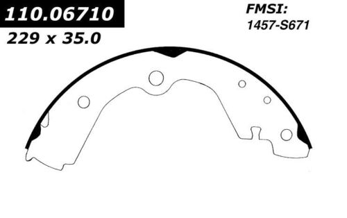 671 FITS 1993-1998 NISSAN ALTIMA BRAND NEW C-TEK REAR BRAKE SHOES 110.06710