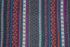 Multi Ethnic Stripe Jersey Knit Print #134 Rayon Poly Spandex Lycra Fabric BTY