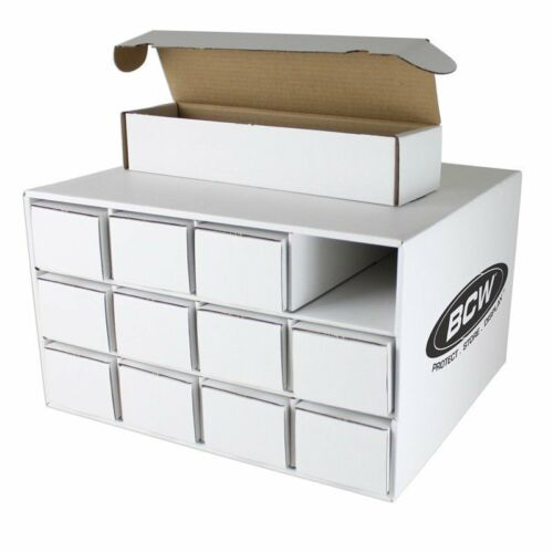 One Card House Cardboard Storage Box with 12-800 Count 1-Piece Drawer Boxes