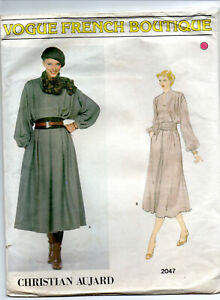 Vogue-Christian-Aujard-Sewing-Pattern-2047-UNCUT-for-Lady-039-s-Dress-Size-12