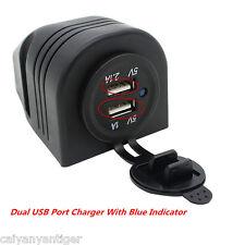 DC 12V 3.1A Dual USB Port Charger Power Adapter Outlet Cigarette Lighter Socket