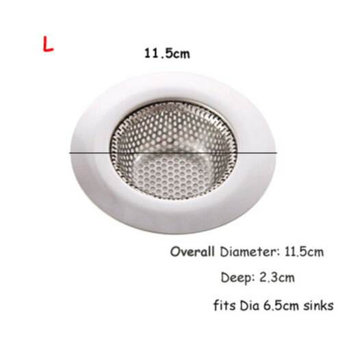 3Size Stainless Steel Sink Bath Drain Filter Strainer Stopper Hair Food Catcher