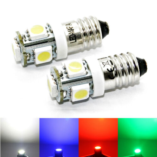 F20 1-5-10 E10 LED Lämpchen Warm Weiß 12 V 6 V Volt DC 5x5050 Glühbirne Lampe