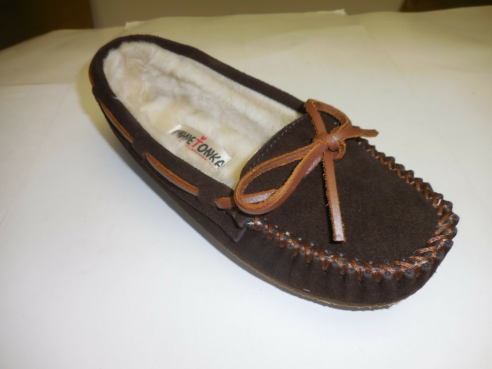 Minnetonka Moccasin Women's Chocolate Cally Trapper Moccasins Sizes  6,7,8,9 &10
