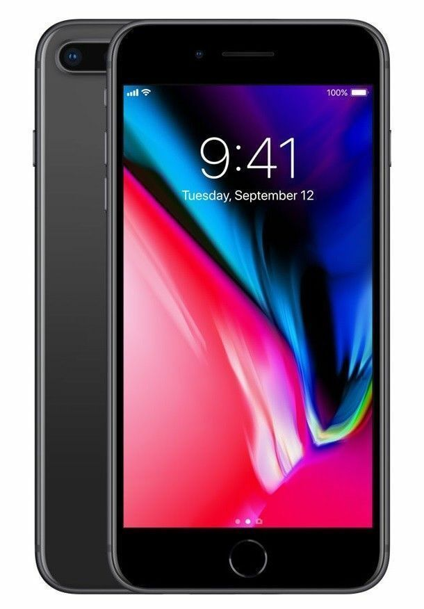 Apple iPhone 8 Plus - 64GB - Space Gray (Factory GSM Unlocked) - New
