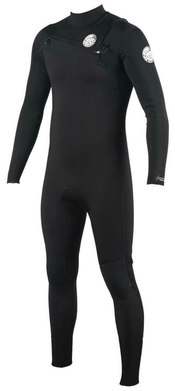 Rip Curl mannen's Aggrilite 3 2mm Chest Zip Full Wetsuit --zwart --nieuwe