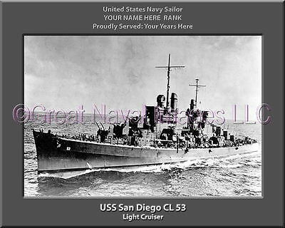 USS Denver CL 58 Personalized Canvas Ship Photo Print Navy Veteran Gift