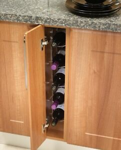 Image Is Loading 150mm Kitchen Cupboard Fixed Wine Rack 5 Bottles