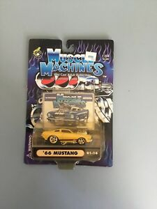 Muscle-Machines-1-6-Diecast-039-66-Mustang-New