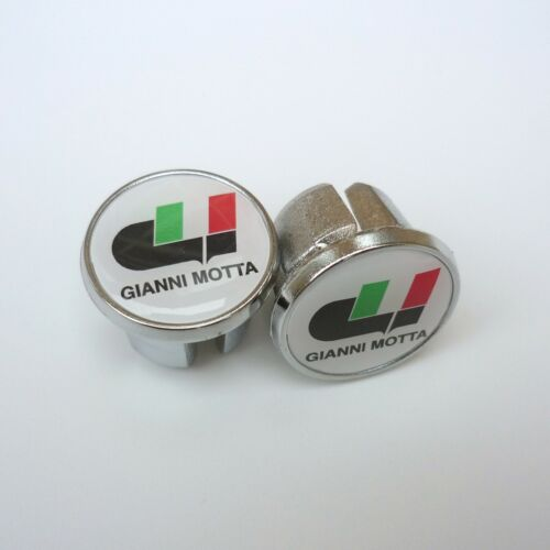 Repro Chrome Racing Bar Plugs Vintage Style Caps Gianni Motta
