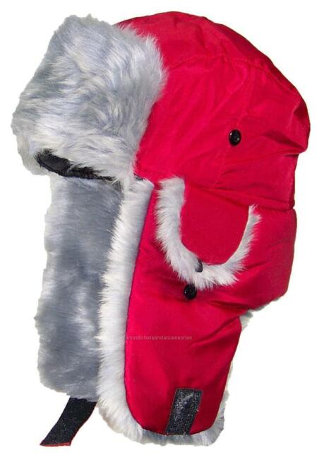738be20710c Best Winter Hats Adult Nylon Russian trapper W soft Faux Fur Hat One ...