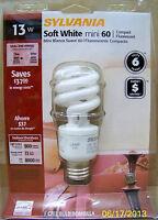 12 Sylvania Soft White Indoor/outdoor 13-watt Cfls - Energy Efficient