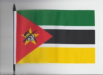Mozambique Medium Hand Waving Flag