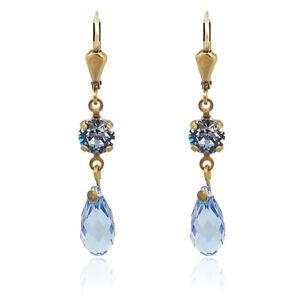 Ohrringe-mit-Kristallen-von-Swarovski-Blau-Gold-NOBEL-SCHMUCK
