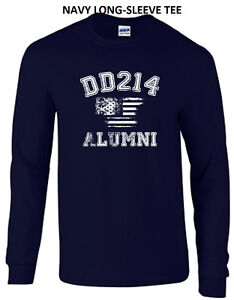 0aee3441 DD 214 Z Alumni Military Discharge Flag Long Sleeve Tee T Shirt New ...