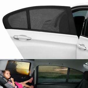 2X-Car-UV-Side-Window-Sun-Visor-Shade-Black-Mesh-Cover-Shield-Sunshade-Protect