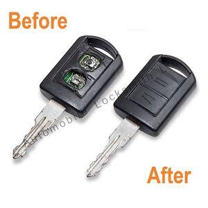 Refurbishment service for Vauxhall Meriva Corsa 2 button remote key fix