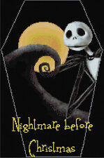 Nightmare Before Christmas Cross Stitch Kit Film Characters   Free P&P