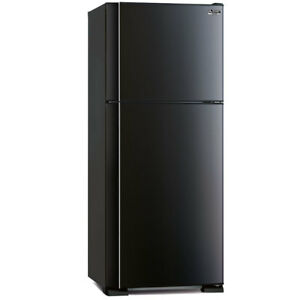 Mitshubishi-MR420EKSBA-Electric-420L-Top-Mount-Shiny-Black-Fridge