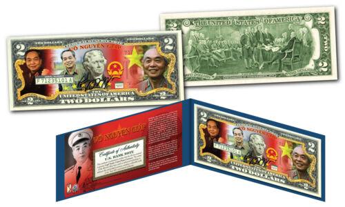 Bill VO NGUYEN GIAP Vietnam Icon /& General OFFICIAL Genuine Legal Tender $2 U.S
