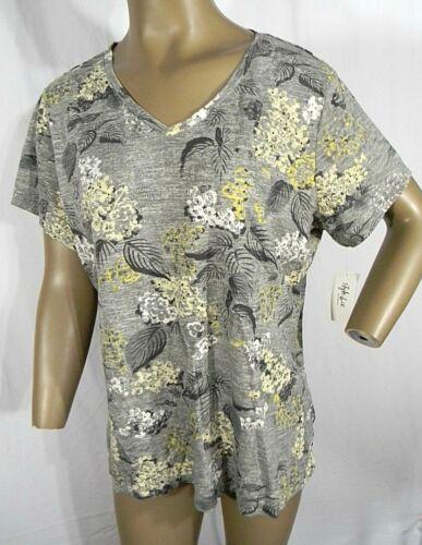 Style/&Co Plus Size 0X,1X,2X T-Shirt Women Cotton Mixed Floral-Print T-Shirt NEW
